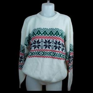Vintage grandma knitted snowflake sweater